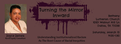 Turning the Mirror Inward: Institutionalized Racism with Joyce James NTNL.org