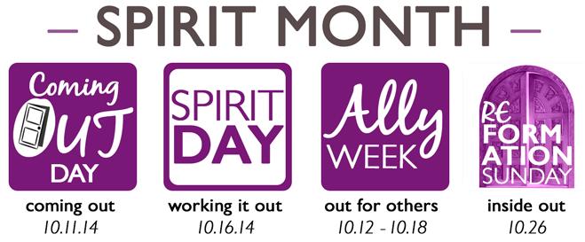 October  is Spirit Month