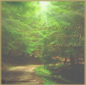 "image of a path in a forest. Text reads ""Ventures in Growing Stewards"""