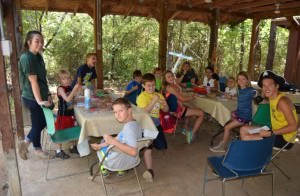 Image of campers and counselors at Briarwood's on-site day camp