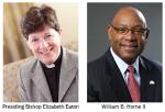 [Image description: headshots of Bishop Elizabeth Eaton and William B.Horne III]