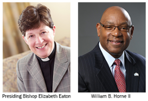 [Image description: headshots of Bishop Elizabeth Eaton and William B.Horne III]